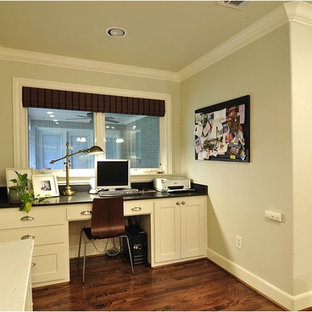 This is an example of a traditional home office in Dallas.