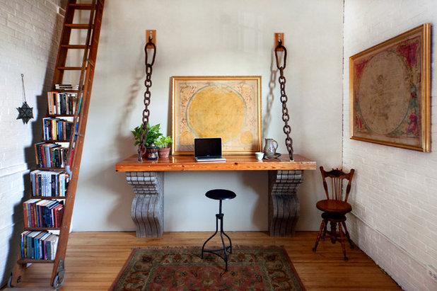 Industrielt Hjemmekontor by Tyler Karu Design + Interiors