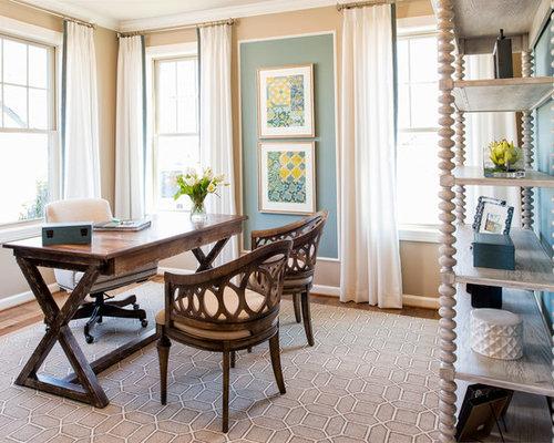Landhausstil arbeitszimmer mit blauer wandfarbe ideen - Arbeitszimmer wandfarbe ...