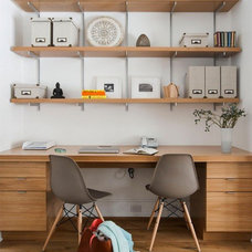 Transitional Home Office by victoria kirk interiors