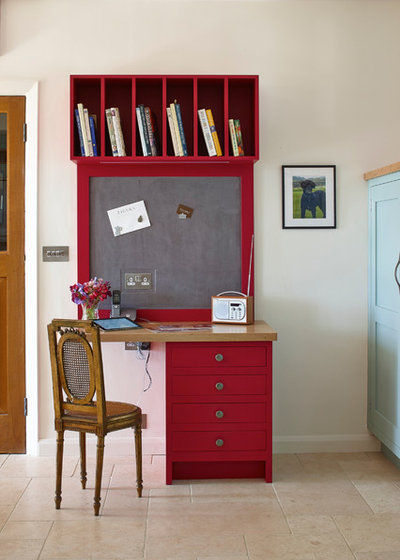 Country Home Office & Library by Figura Kitchens & Interiors
