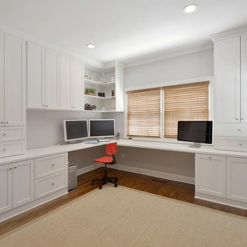 Large White Floor to Ceiling Office