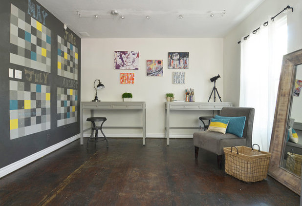 Unique Eclectic Home Office by Sarah Greenman