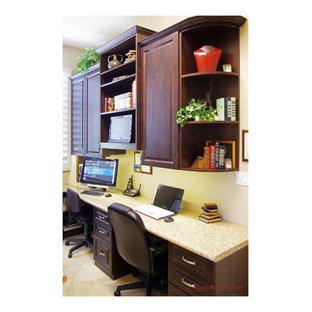 Small built-in desk home office photo in Sacramento