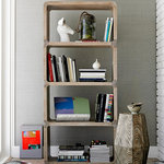 French Country Taupe Oak Reclaimed Wood Cabinet Vitrine - Traditional - Storage Cabinets - by ...
