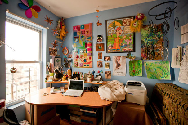 Eclectic Home Office by Chris A. Dorsey Photography