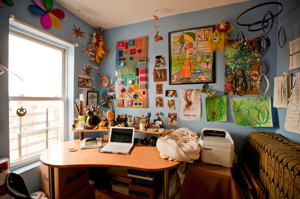 Eclectic Home Office by Chris A Dorsey Photography