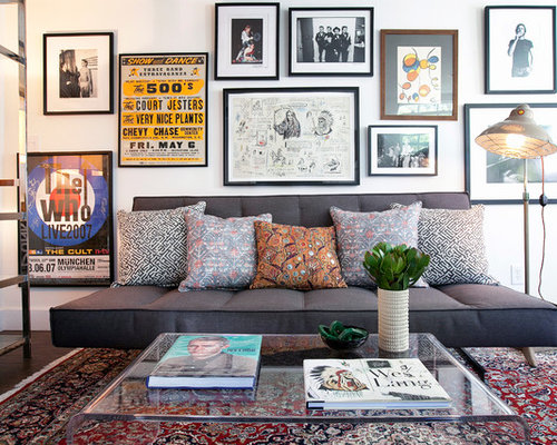 living room posters. Inspiration for a contemporary home office remodel in Los Angeles with  white walls Living Room Posters Houzz