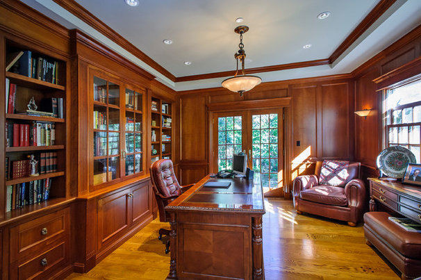 Traditional Home Office by Dennis Mayer, Photographer