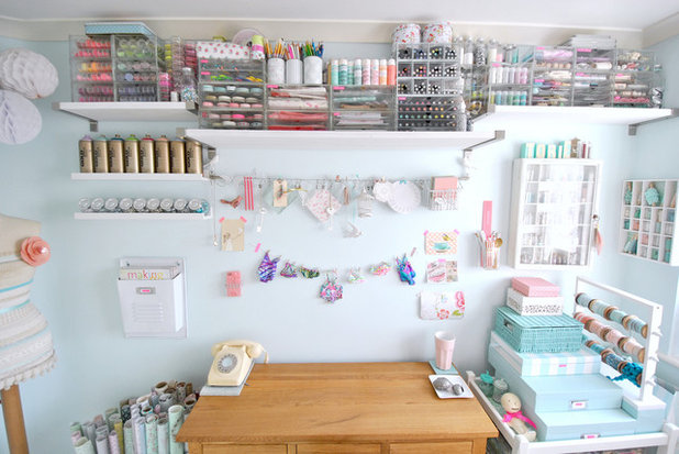 Shabby-chic Style Home Office & Library by Torie Jayne