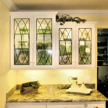 Leaded Glass Cabinet Inserts for - Poulos Residence