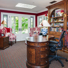 Traditional Home Office by Catherine Monaghan