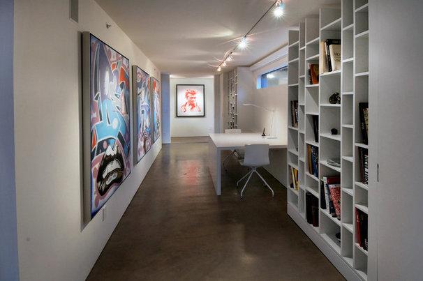 Contemporary Home Office by Process Design Build, L.L.C.