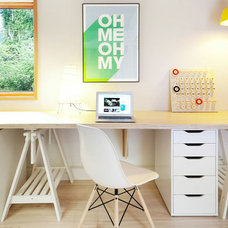 Midcentury Home Office by Smith & Sons Developments