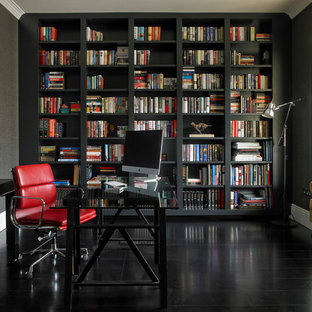 This Is An Example Of A Classic Home Office And Library In London.