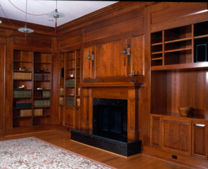 Traditional Home Office by Kent Cabinetry and Millwork Inc