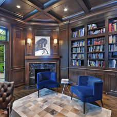 Transitional Home Office by Newgard Custom Homes