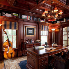 Traditional Home Office by Evelyn M. Designs