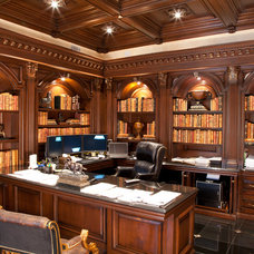 Traditional Home Office by WL INTERIORS