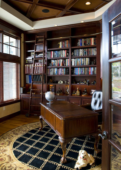 American Traditional Home Office by Gabberts Design Studio