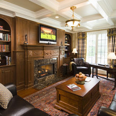traditional home office by Sara Hopkins