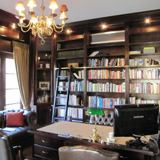 Traditional Home Office by The Wood Studio