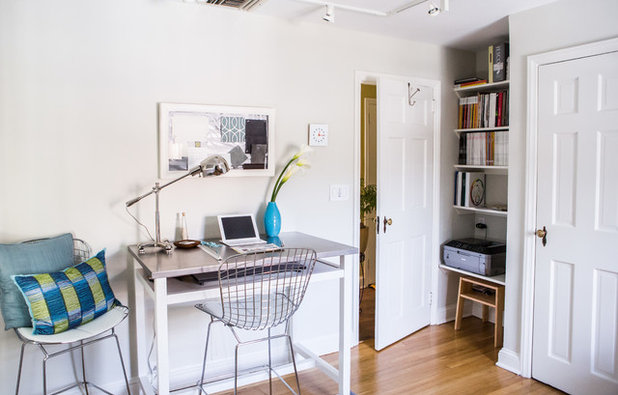 Contemporary Home Office by Atelier 616 Interiors, LLC