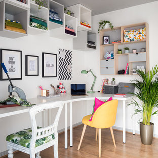 Eclectic home office alison Blue Midsized Eclectic Freestanding Desk Laminate Floor And Brown Floor Home Studio Photo In Edinburgh Houzz 75 Most Popular Eclectic Home Office Design Ideas For 2019 Stylish
