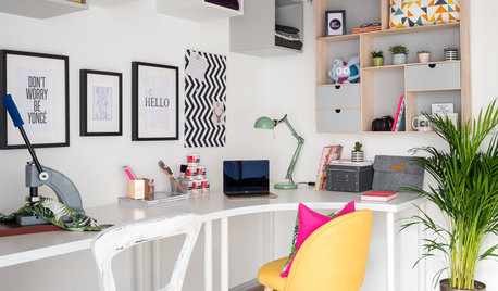 Room Tour: A Bright Workspace That's Office and Craft Room in One