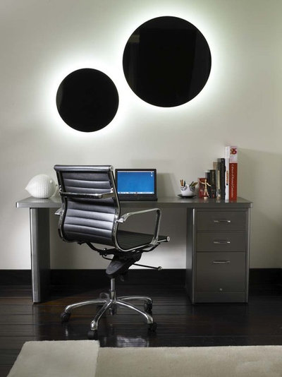 Contemporary Home Office by Amy Noel Design