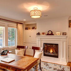 Traditional Home Office by Farinelli Construction Inc