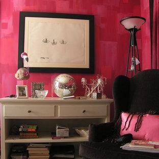 アトランタのエクレクティックスタイルのおしゃれなホームオフィス・書斎の写真
