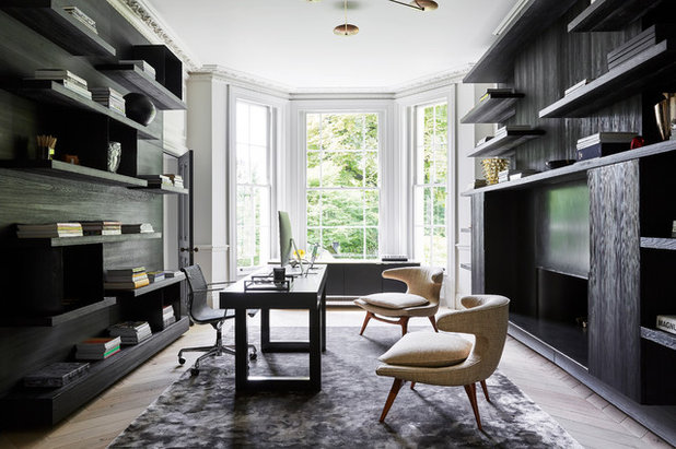 Contemporary Home Office by Cheyne Construction