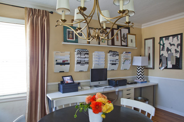 Traditional Home Office by Amy Peltier Interior Design & Home