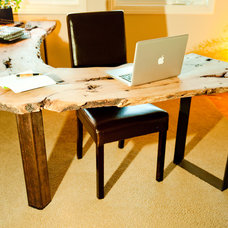 Rustic Home Office by Colleen Smith Designs