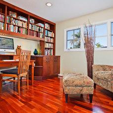 Craftsman Home Office by Jackson Design & Remodeling