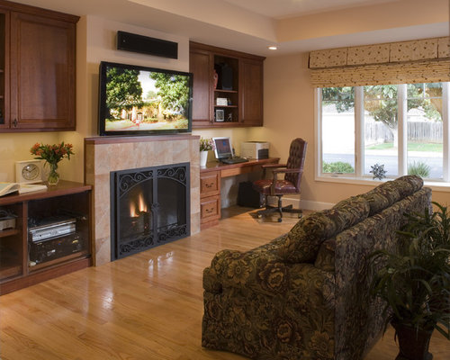 Desk Next To Fireplace Home Design Ideas Pictures