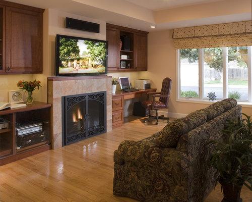 Desk Next To Fireplace Houzz