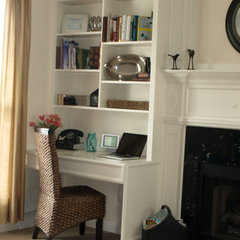 traditional home office Living Room Home office
