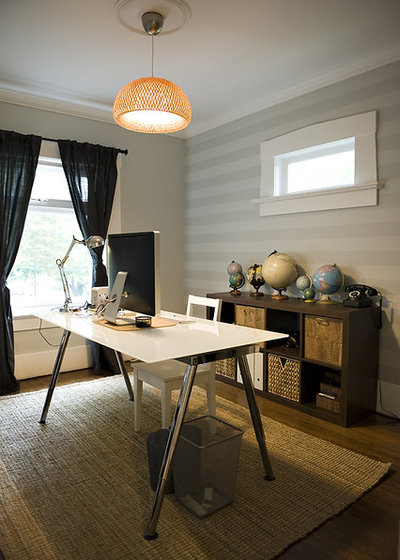 Eclectic Home Office by The Locker