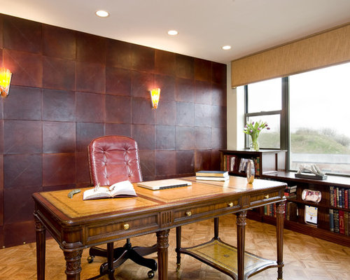 Tremendous Leather Wallpaper Ideas Pictures Remodel And Decor Largest Home Design Picture Inspirations Pitcheantrous