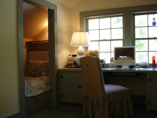 Eclectic Home Office by Ellen Kennon Design