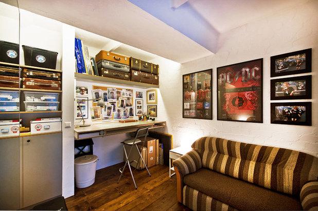 Eclectic Home Office by Dalius & Greta Design