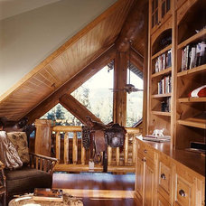 Traditional Home Office by Mountain Log Homes & Interiors