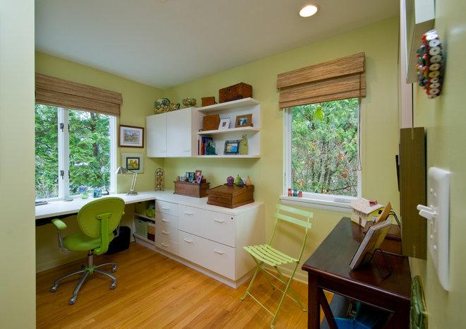 Contemporary Home Office by Custom Design/Build, Inc.