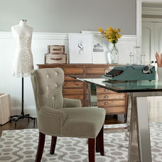 Transitional Home Office by The Elegant Abode Interior Design