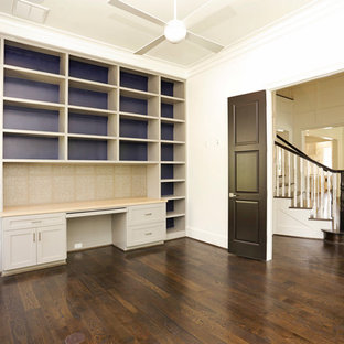 Transitional home office photo in Houston