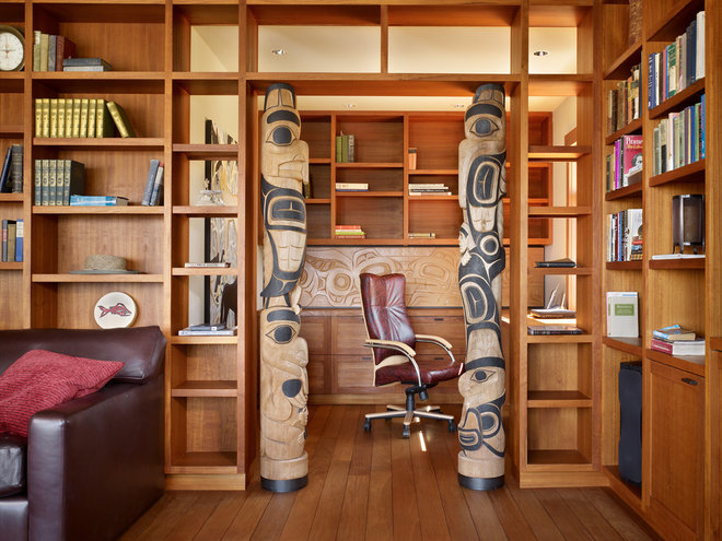 Rustic Home Office by Graham Baba Architects