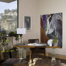Contemporary Home Office by Lori Dennis, ASID, LEED AP