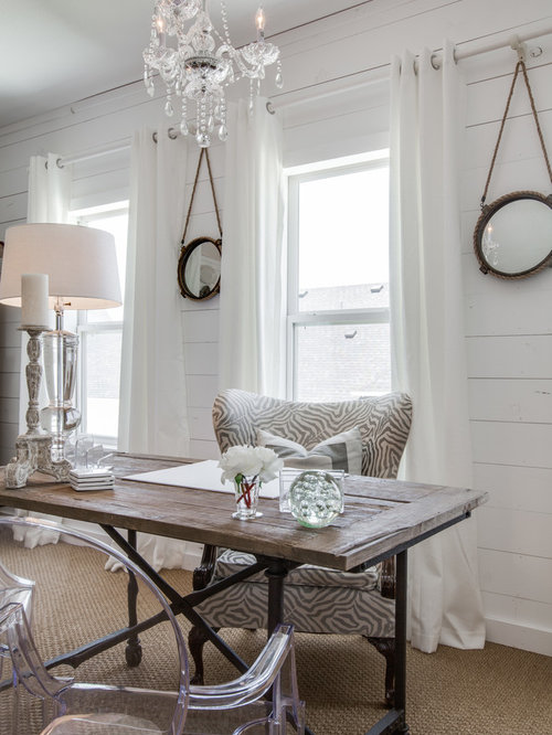 Shabby-Chic Style Home Office Design Ideas, Remodels & Photos